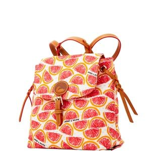 NWT Dooney & Bourke Pomelo medium nylon backpack